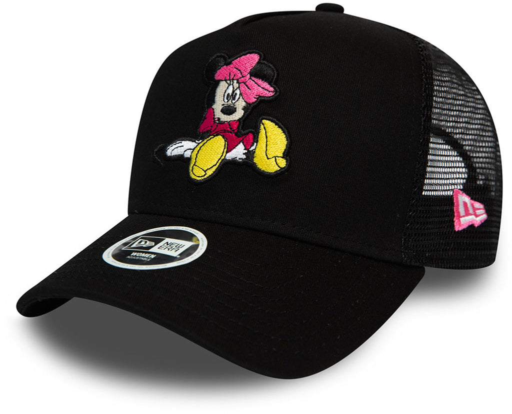 Minnie Mouse Womens New Era Disney Essential Black Trucker Cap