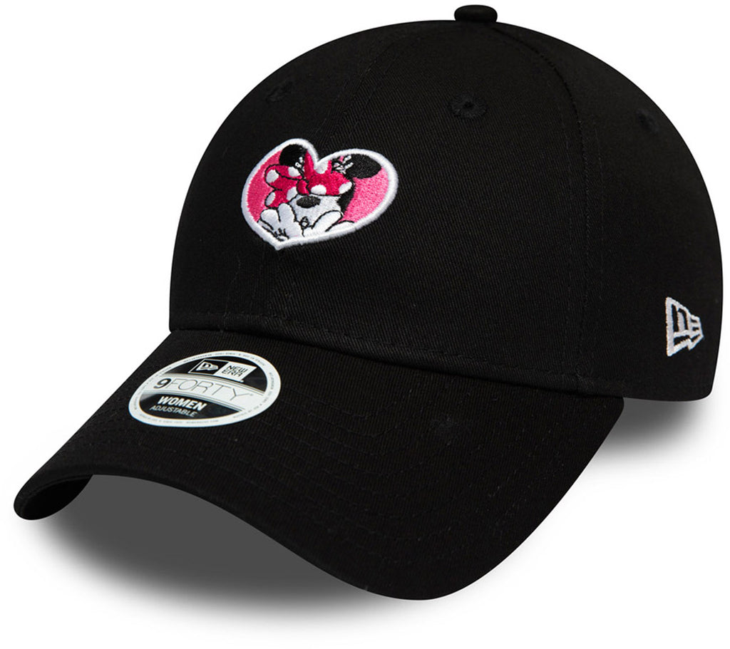 Minnie Mouse Womens New Era 940 Disney Essential Black Baseball Cap