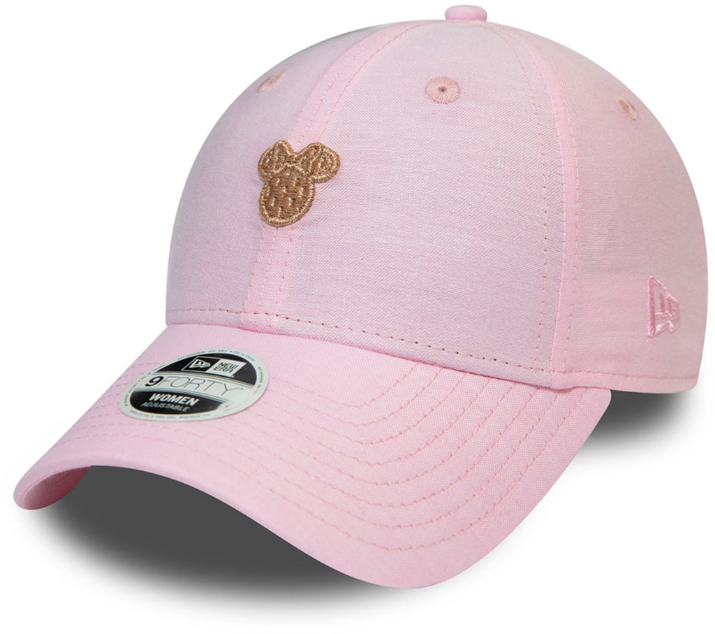 Minnie Mouse Womens New Era 940 Pink Disney Baseball Cap