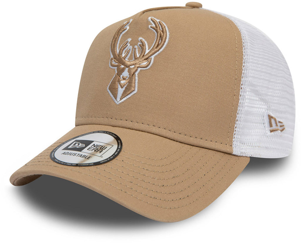 Milwaukee Bucks New Era NBA Essential Camel Trucker Cap