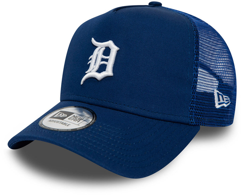 Detroit Tigers New Era League Essential Blue Trucker Cap - pumpheadgear, baseball caps