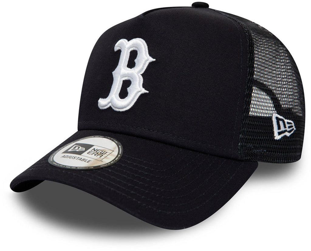 Boston Red Sox New Era League Essential Navy Trucker Cap - pumpheadgear, baseball caps