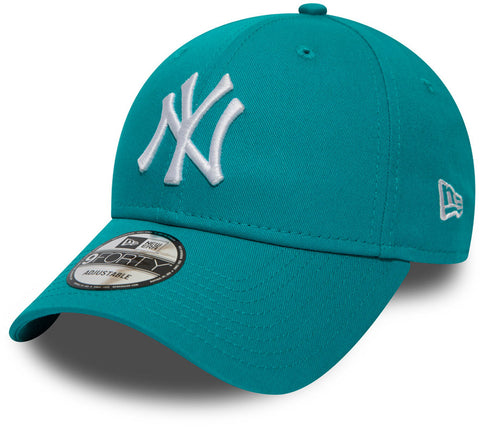 NY Yankees New Era 940 League Essential Turquoise Baseball Cap