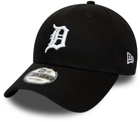 Detroit Tigers New Era 940 League Essential Black Baseball Cap - pumpheadgear, baseball caps