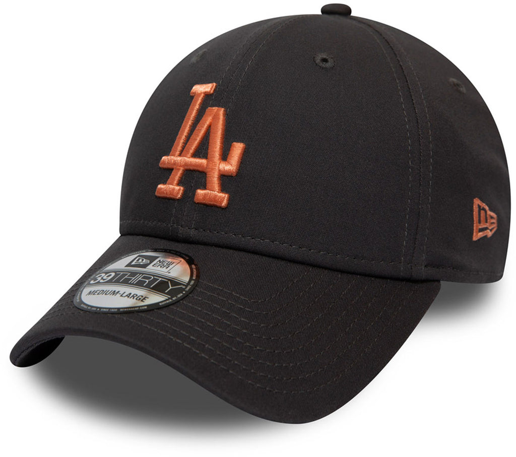 LA Dodgers New Era 3930 League Essential Graphite Stretch Fit Baseball Cap