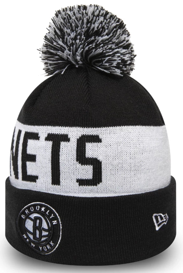 Brooklyn nets New Era NBA 2019 Team Tonal Bobble Hat - pumpheadgear, baseball caps