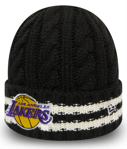 Los Angeles Lakers New Era NBA Team Stripe Knit Beanie