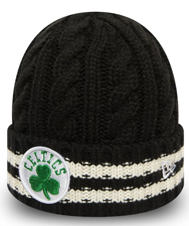 Boston Celtics New Era NBA Team Stripe Knit Beanie - pumpheadgear, baseball caps