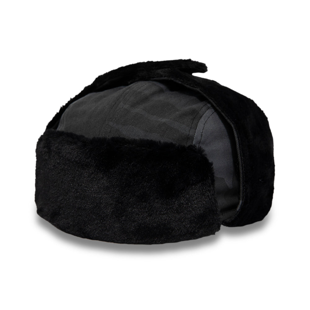 New Era Mens Black Camo Trapper Hat - pumpheadgear, baseball caps