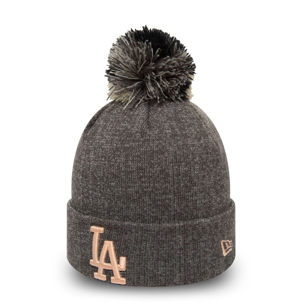LA Dodgers Womens New Era Multi Bob Cuff Knit Bobble Hat