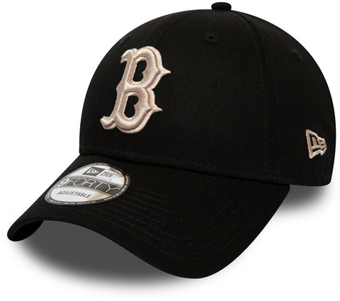 Boston Red Sox New Era 940 League Essential Black Baseball Cap - pumpheadgear, baseball caps