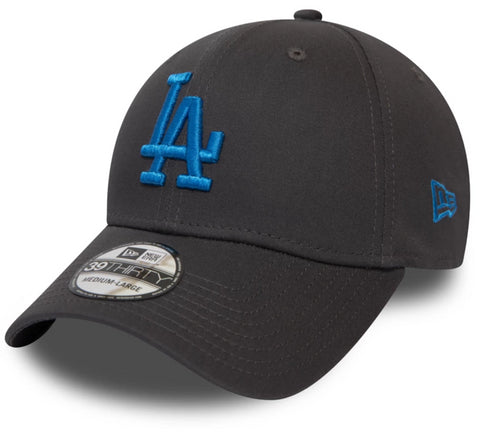 LA Dodgers New Era 3930 League Essential Grey Stretch Fit Baseball Cap