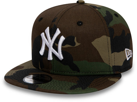 NY Yankees New Era Kids 950 Woodland Camo Snapback Cap (Age 4 - 10 years)