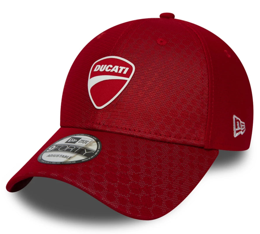 Ducati FA19 New Era 940 Hex Pattern Cap - pumpheadgear, baseball caps