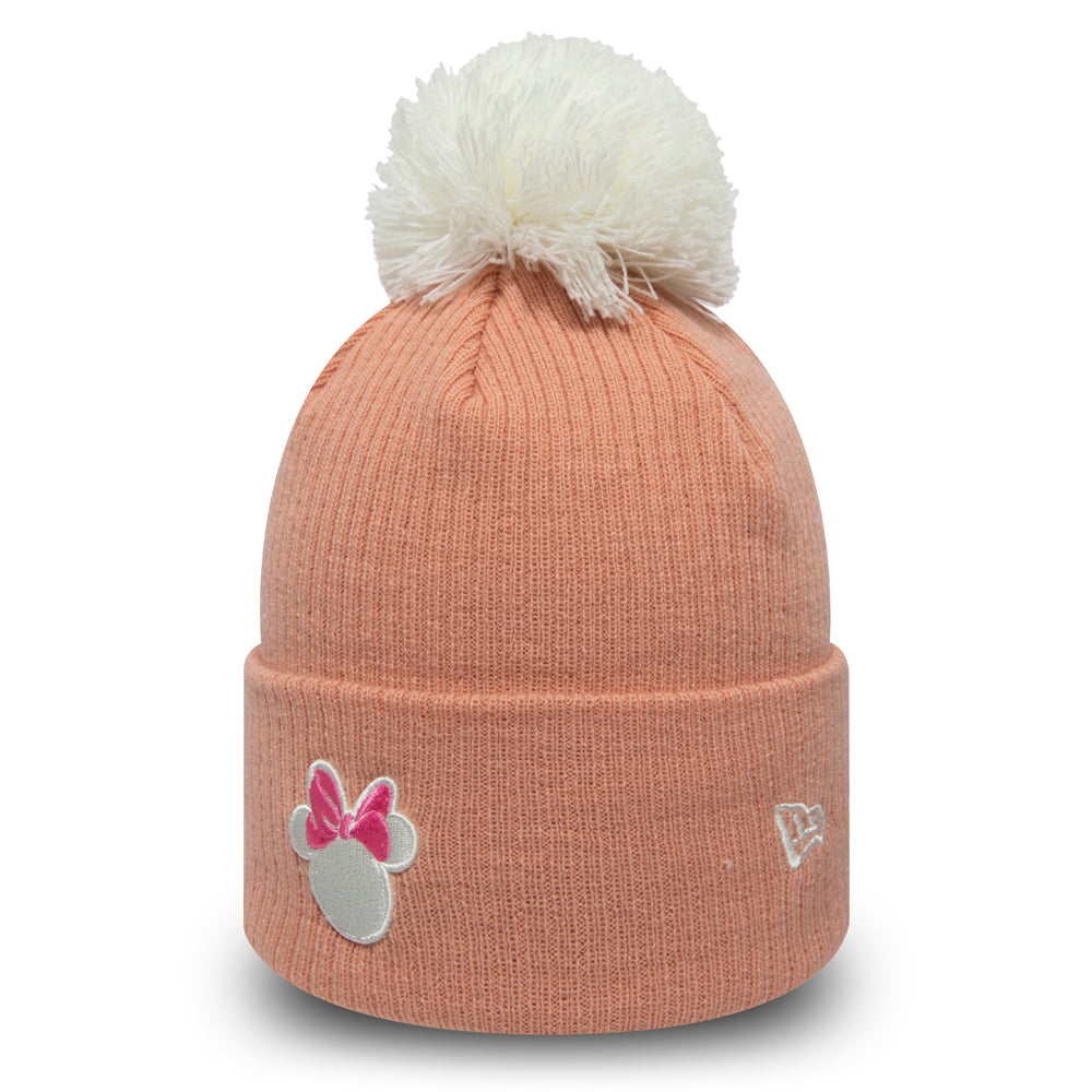 Disney Minnie Mouse Womens New Era Cuff Knit Rose Bobble Hat