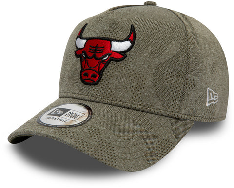 Chicago Bulls New Era Engineered Plus Olive Trucker Cap - pumpheadgear, baseball caps