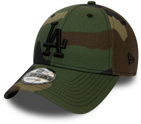 LA Dodgers New Era 940 Camo Essential Baseball Cap - pumpheadgear, baseball caps