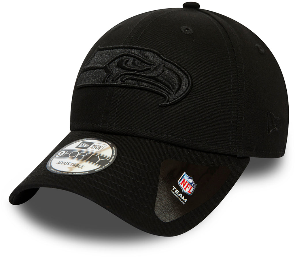 Seattle Seahawks New Era 940 All Black Snapback Cap