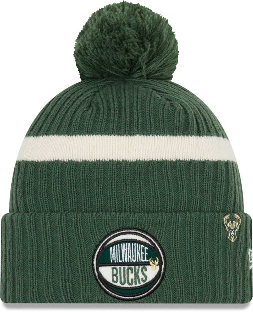 Milwaukee Bucks New Era NBA 2019 Draft Knit Bobble Hat