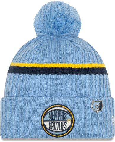 Memphis Grizzlies New Era NBA 2019 Draft Knit Bobble Hat