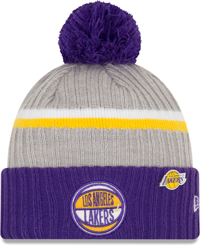 Los Angeles Lakers New Era NBA 2019 Draft Knit Bobble Hat