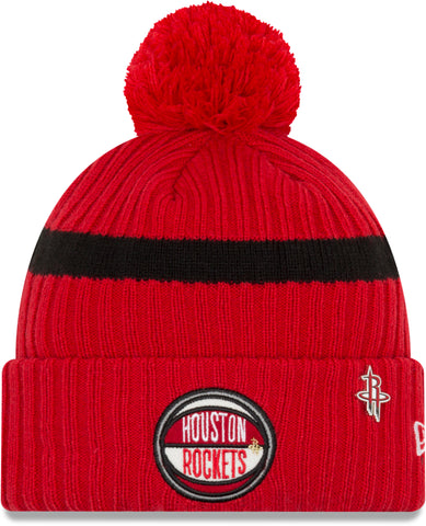 Houston Rockets New Era NBA 2019 Draft Knit Bobble Hat - pumpheadgear, baseball caps