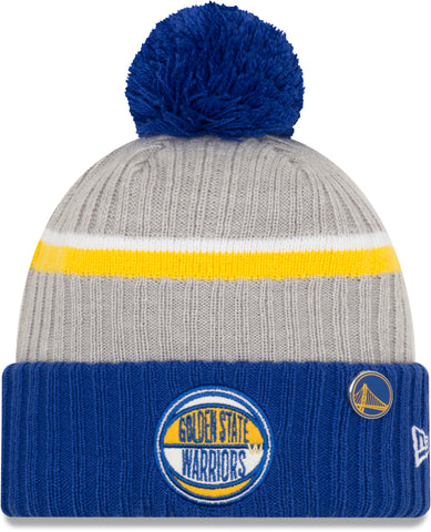 Golden State Warriors New Era NBA 2019 Draft Knit Bobble Hat - pumpheadgear, baseball caps
