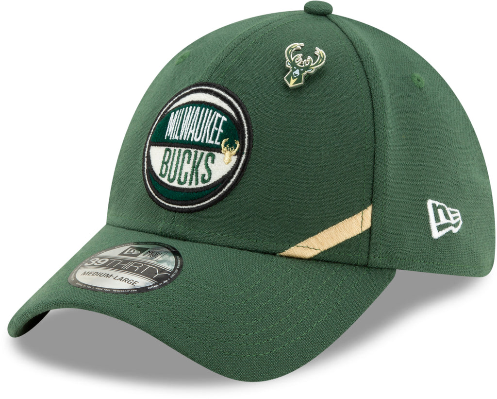 Milwaukee Bucks NBA 2019 Draft New Era 3930 Stretch Fit Cap + New Era Gift Box