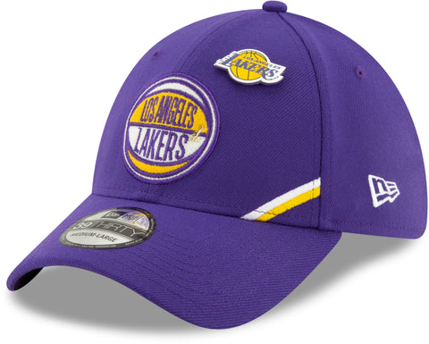 LA Lakers NBA 2019 Draft New Era 3930 Stretch Fit Cap + New Era Gift Box