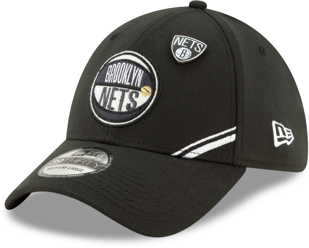 Brooklyn Nets NBA 2019 Draft New Era 3930 Stretch Fit Cap + New Era Gift Box - pumpheadgear, baseball caps