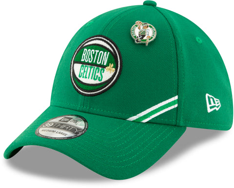 Boston Celtics NBA 2019 Draft New Era 3930 Stretch Fit Cap + New Era Gift Box - pumpheadgear, baseball caps