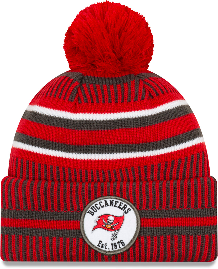 Tampa Bay Bucaneers New Era NFL On Field 2019 Sport Knit Home Bobble Hat