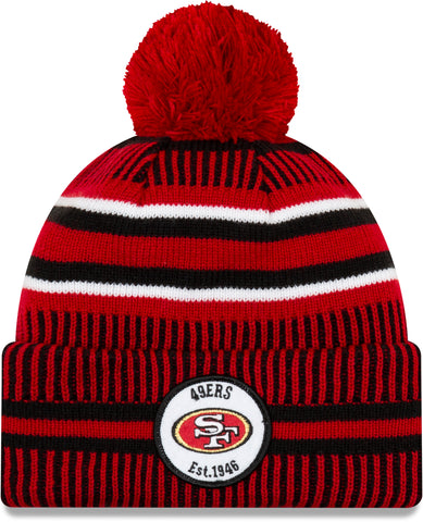 San Francisco 49Ers New Era NFL On Field 2019 Sport Knit Home Bobble Hat