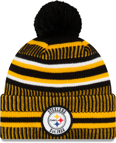 Pittsburgh Steelers 49Ers New Era NFL On Field 2019 Sport Knit Home Bobble Hat