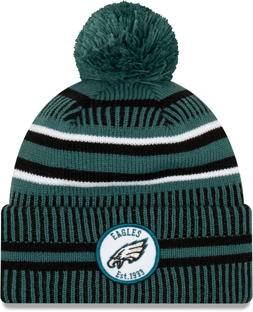 Philadelphia Eagles 49Ers New Era NFL On Field 2019 Sport Knit Home Bobble Hat