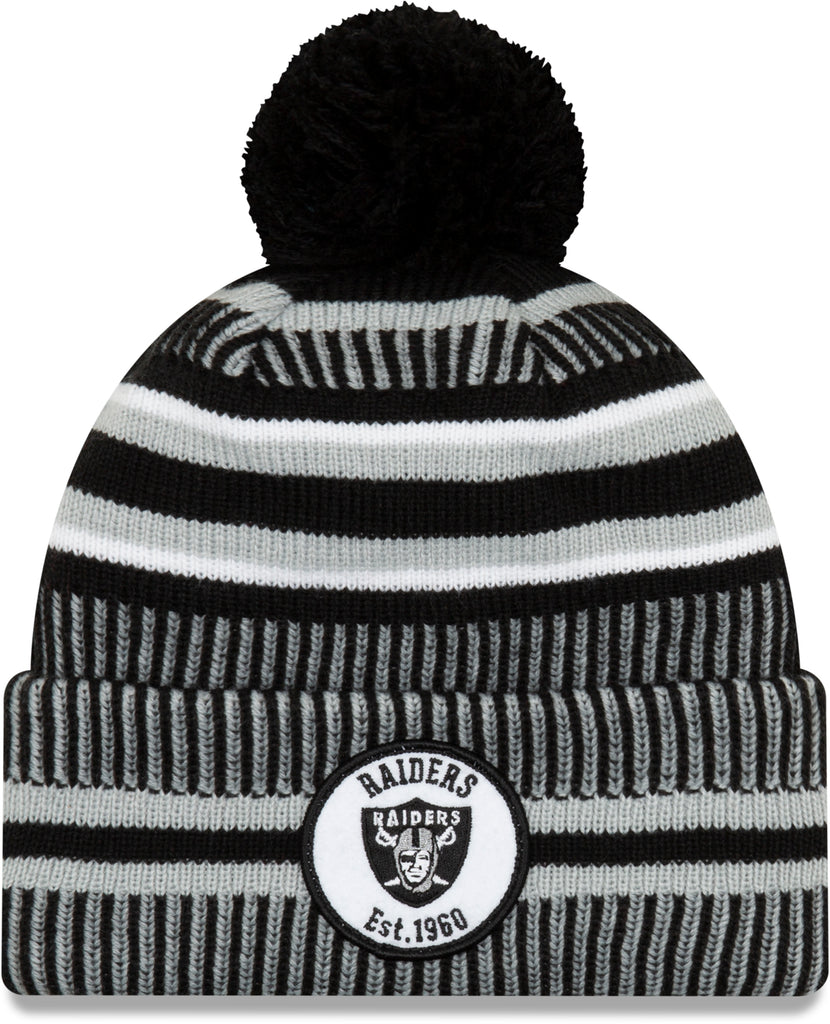 Raiders 49Ers New Era NFL On Field 2019 Sport Knit Home Bobble Hat