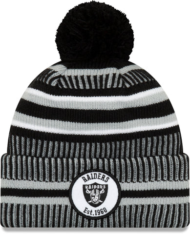 Raiders 49Ers New Era NFL On Field 2019 Sport Knit Home Bobble Hat - pumpheadgear, baseball caps