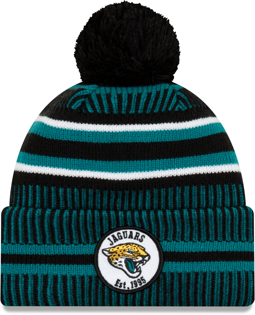 Jacksonville Jaguars New Era NFL On Field 2019 Sport Knit Home Bobble Hat