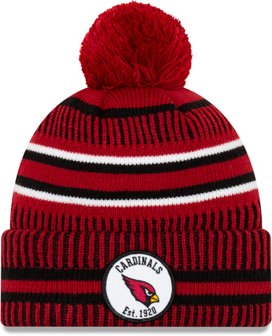 Arizona Cardinals New Era NFL On Field 2019 Sport Knit Home Bobble Hat - pumpheadgear, baseball caps