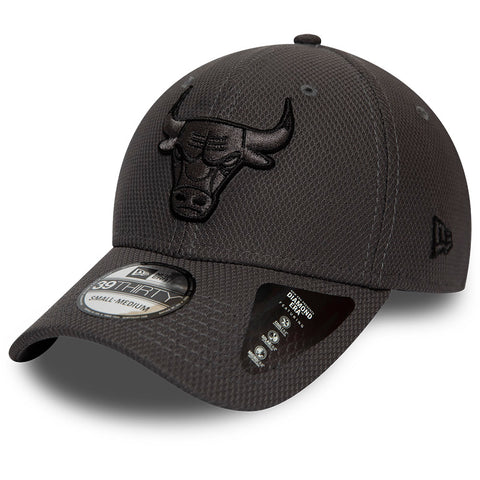Chicago Bulls New Era 3930 NBA Team Grey Stretch Fit Cap