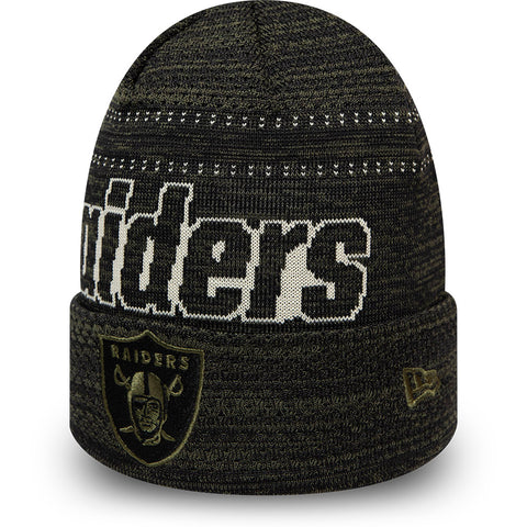Raiders New Era NFL Team  Engineered Fit Knit Beanie - pumpheadgear, baseball caps