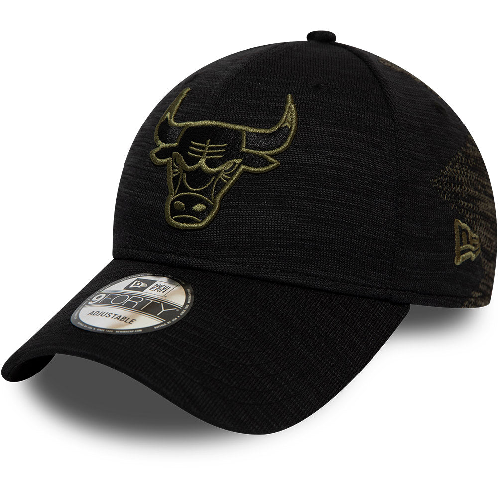 Chicago Bulls New Era 940 Engineered Fit Black Cap