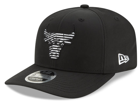 Chicago Bulls New Era 950 NBA Monotape PC Black Strapback Cap