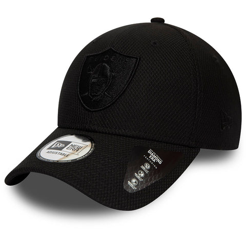 Raiders New Era 940 NFL Mono Team Colour Black Cap - pumpheadgear, baseball caps