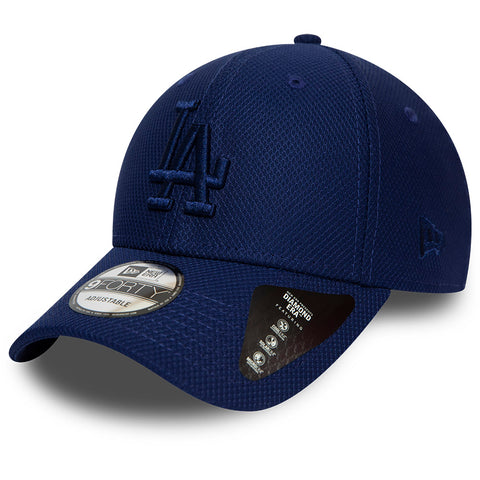 LA Dodgers New Era 940 Mono Team Colour Blue Baseball Cap - pumpheadgear, baseball caps