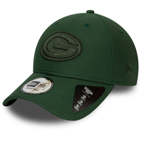 Green Bay Packers New Era 940 NFL Mono Team Colour Green Cap