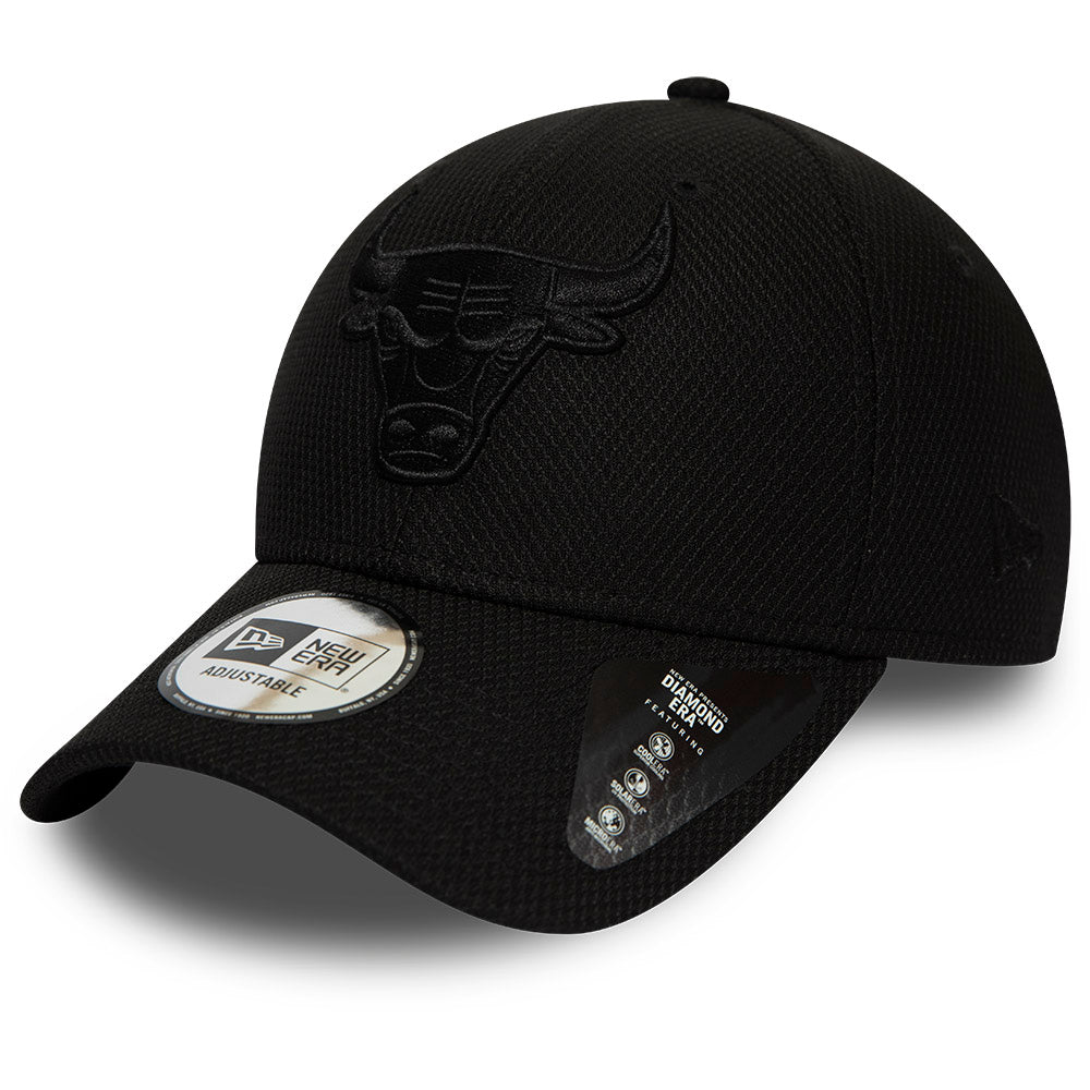 Chicago Bulls New Era 940 NBA Mono Team Colour Black Cap