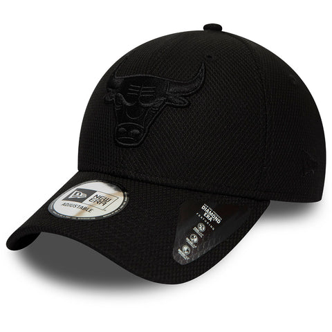 Chicago Bulls New Era 940 NBA Mono Team Colour Black Cap - pumpheadgear, baseball caps