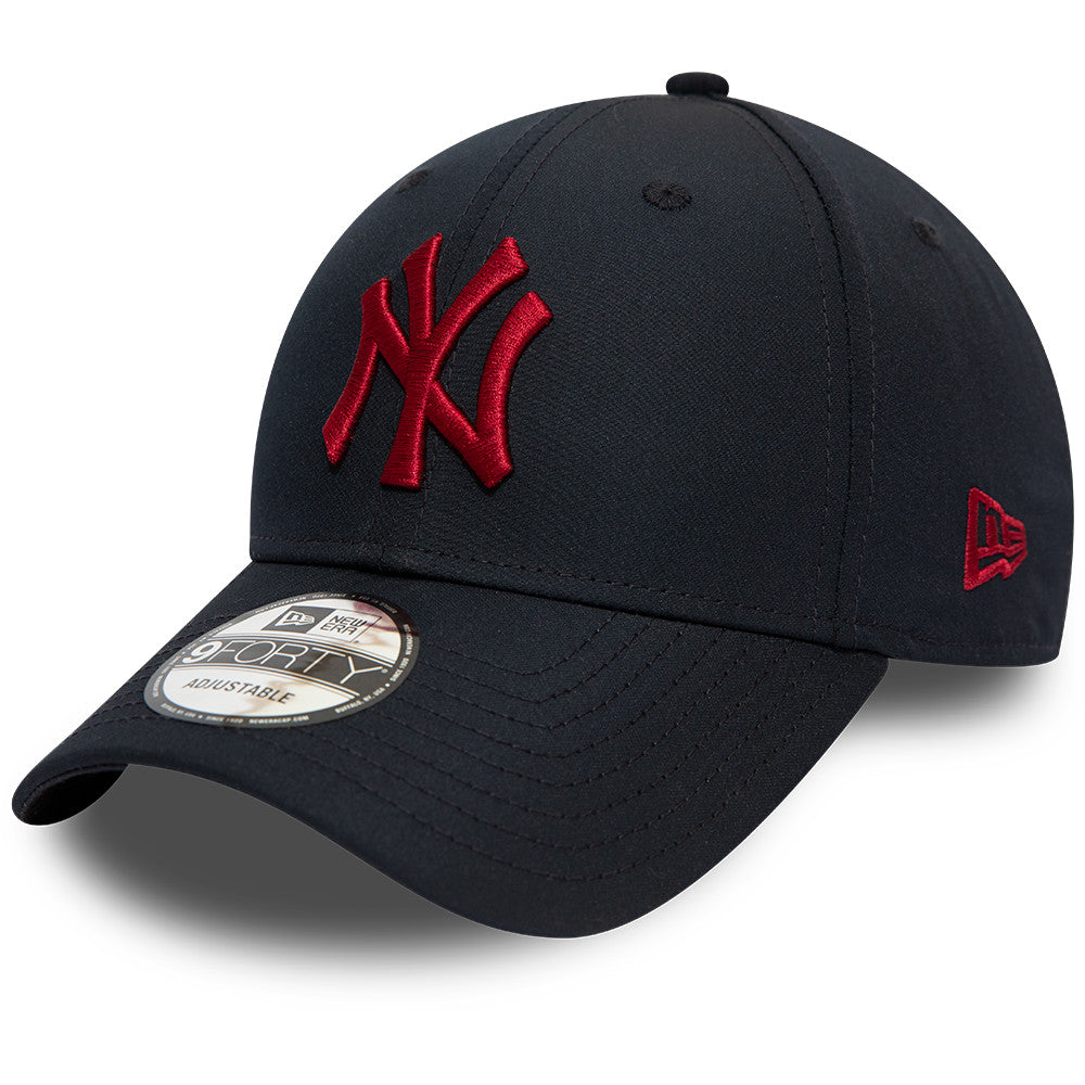 NY Yankees New Era 940 Mini Reverse Team Navy Baseball Cap - pumpheadgear, baseball caps
