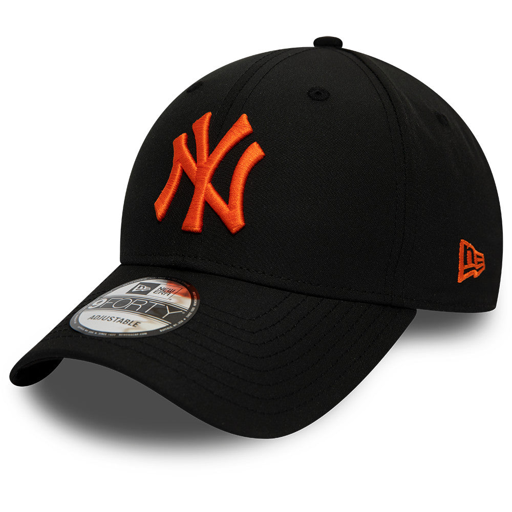 NY Yankees New Era 940 Mini Reverse Team Black Baseball Cap - pumpheadgear, baseball caps